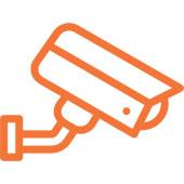 Security camera. Business CCTV installation.